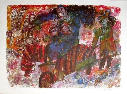 Lithograph Tobiasse - L'Opera des Saltimbanques