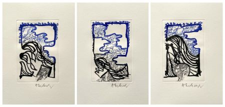 Engraving Alechinsky - '' L'Or Noir ''