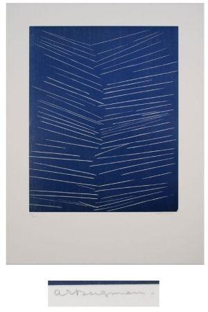 Lithograph Bergmann - L'or vivre-l'air