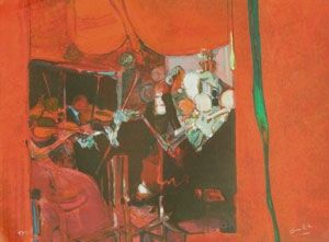 Lithograph Ambille - L'orchestre