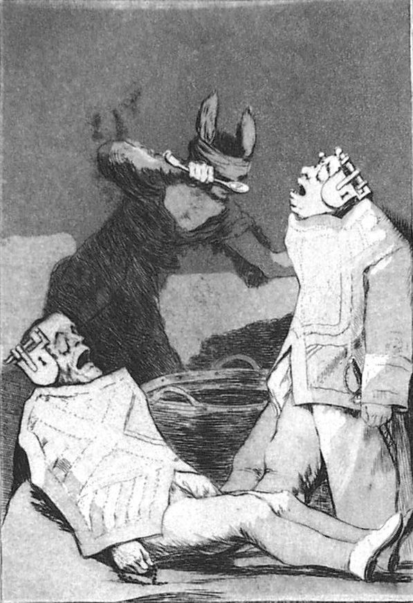 Etching And Aquatint Goya - Los chinchillas