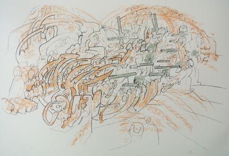Lithograph Matta - Los engullerán III