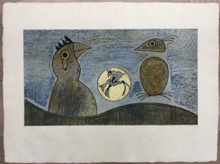 Engraving Ernst - Los Pájaros