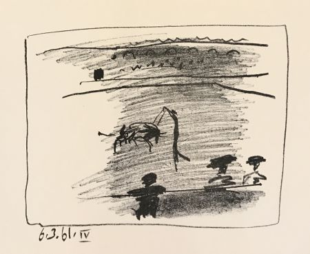 Lithograph Picasso - Los Toros – Les Banderilles (B.1016)
