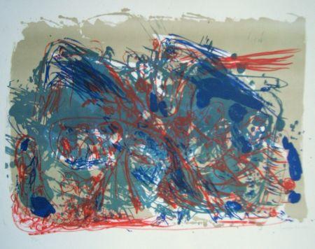 Lithograph Jorn - L'oubli