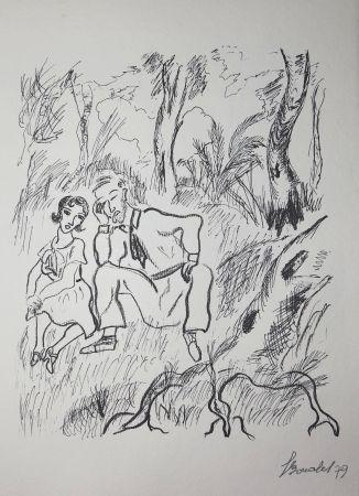 Etching Bonabel - Louis-Ferdinand Céline - Gravure Originale - Voyage au Bout de la Nuit