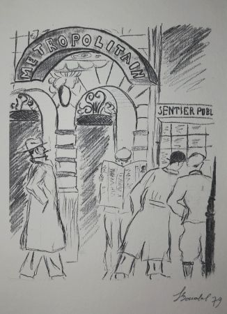 Etching Bonabel - Louis-Ferdinand Céline - Gravure Originale
