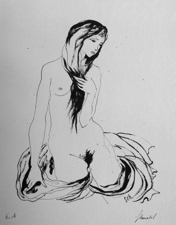 Lithograph Bonabel - Louis-Ferdinand Céline - LA DANSEUSE NUE / THE NUDE DANCER  - 1944