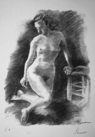 Lithograph Bonabel - Louis-Ferdinand Céline - Litographie Originale / Original Lithograph - Autoportrait/Self-portrait - 1945