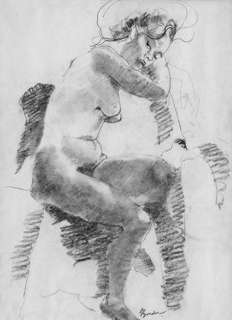 Lithograph Bonabel - Louis-Ferdinand Céline - Litographie Originale / Original Lithograph - Autoportrait/Self-portrait - 1958