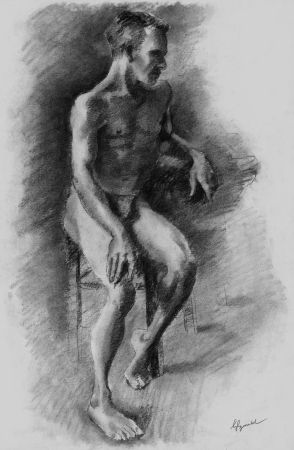Lithograph Bonabel - Louis-Ferdinand Céline - Litographie Originale / Original Lithograph - Nu Masculin / Male Nude - 1938
