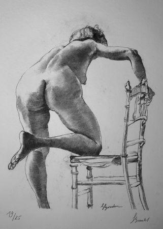 Lithograph Bonabel - Louis-Ferdinand Céline - Nu Feminin / Female Nude - 1938