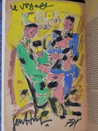 Illustrated Book Paul  -  Louis-Ferdinand Céline - VOYAGE AU BOUT DE LA NUIT - Gouache