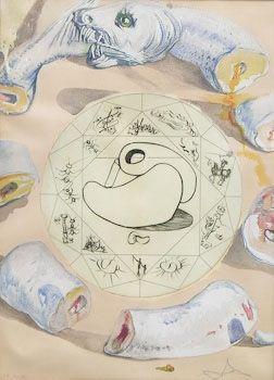 Engraving Dali - L'Ouroboros
