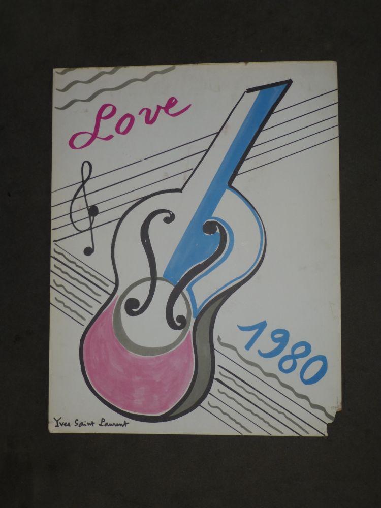 Poster Saint Laurent - Love  1980