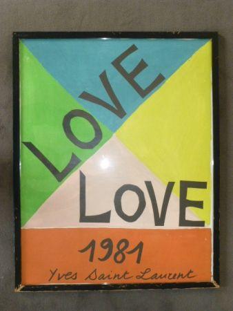 Poster Saint Laurent - Love 1981