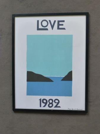 Poster Saint Laurent - Love 1982