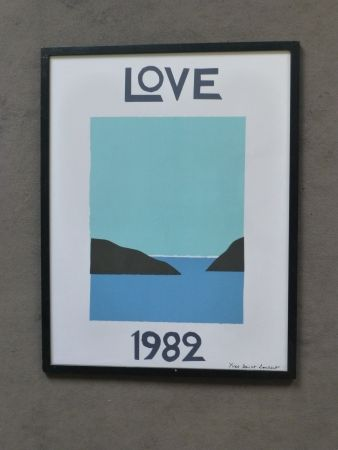 Poster Saint Laurent - Love 1982