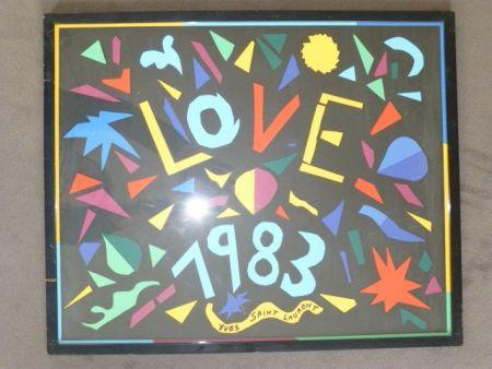 Poster Saint Laurent - Love 1983
