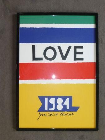 Poster Saint Laurent - Love 1984