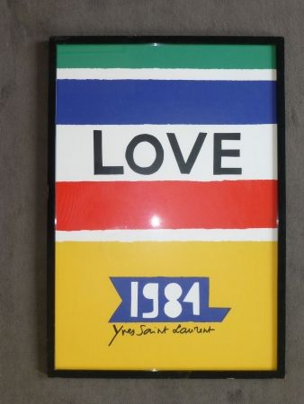 Poster Saint Laurent - Love 1984