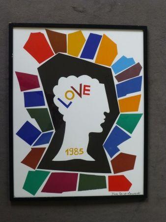 Poster Saint Laurent - Love 1985