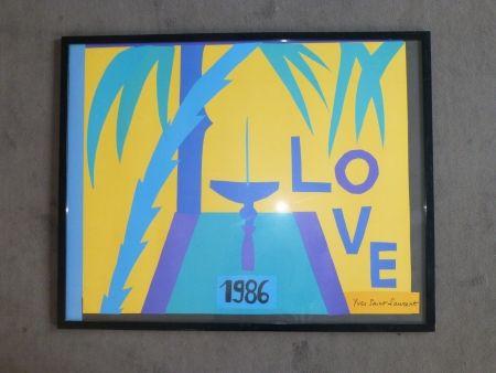 Poster Saint Laurent - Love 1986