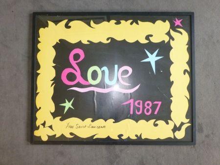 Poster Saint Laurent - Love 1987