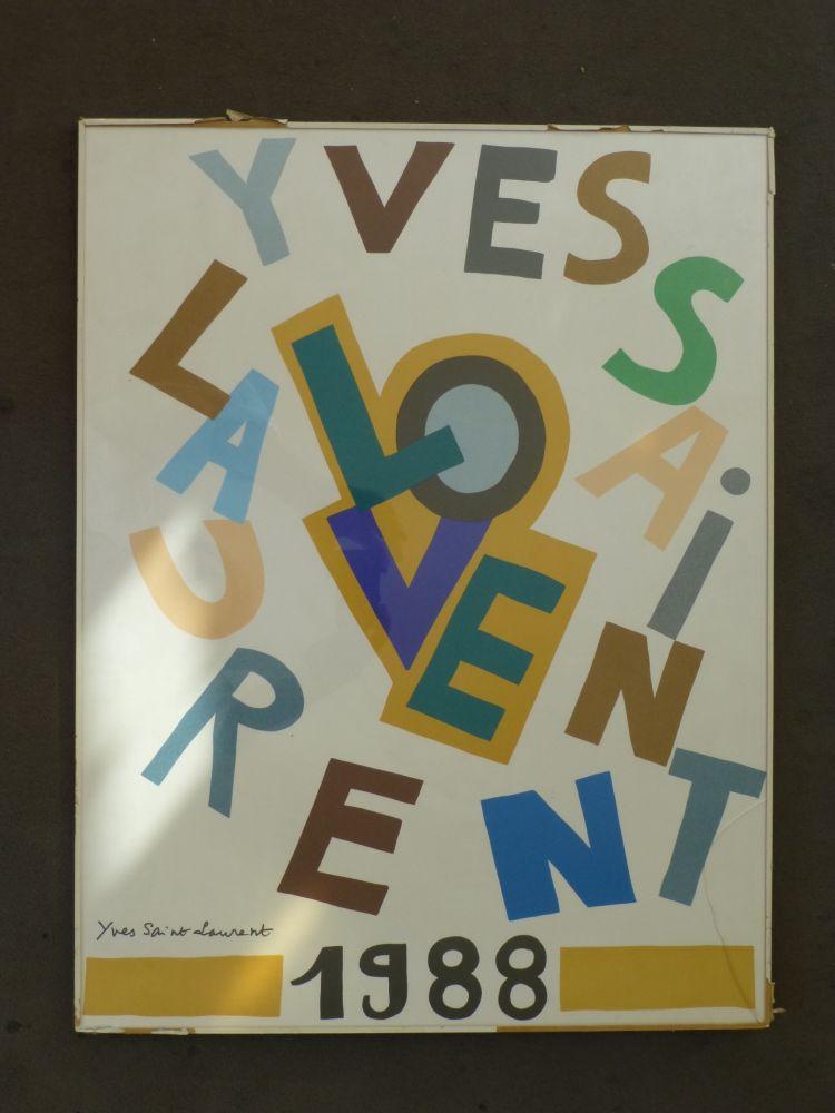 Poster Saint Laurent - Love 1988