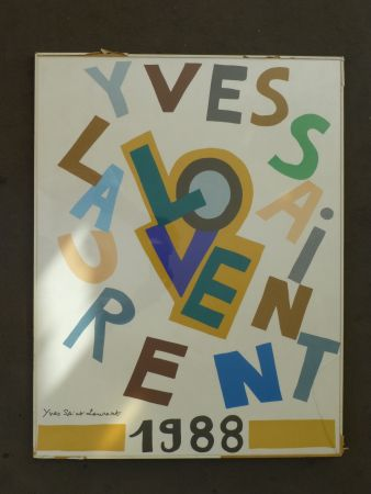 Poster Saint Laurent - Love 1988