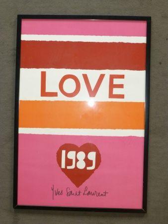 Poster Saint Laurent - Love 1989
