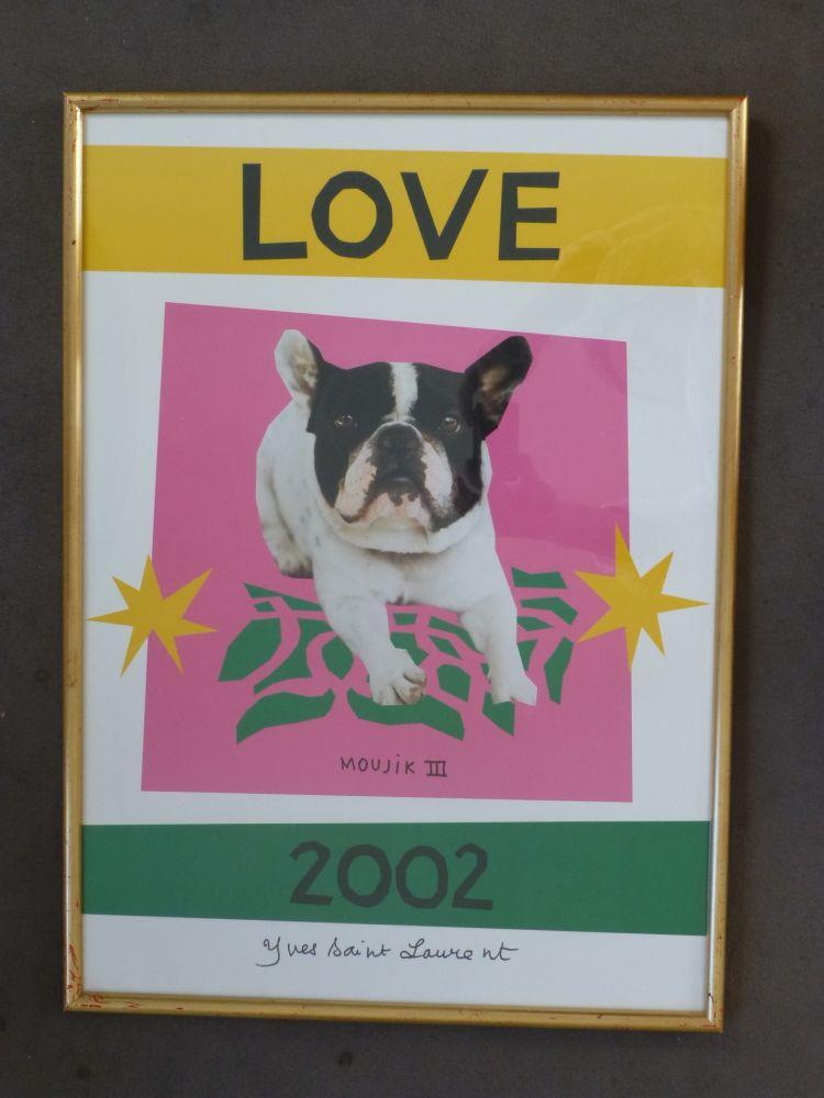 Poster Saint Laurent - Love 2002