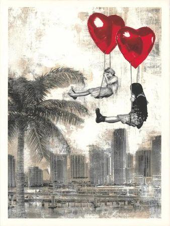 Screenprint Mr Brainwash - Love is in the Air - Miami