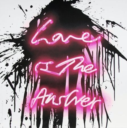 Screenprint Mr Brainwash - Love is the answer