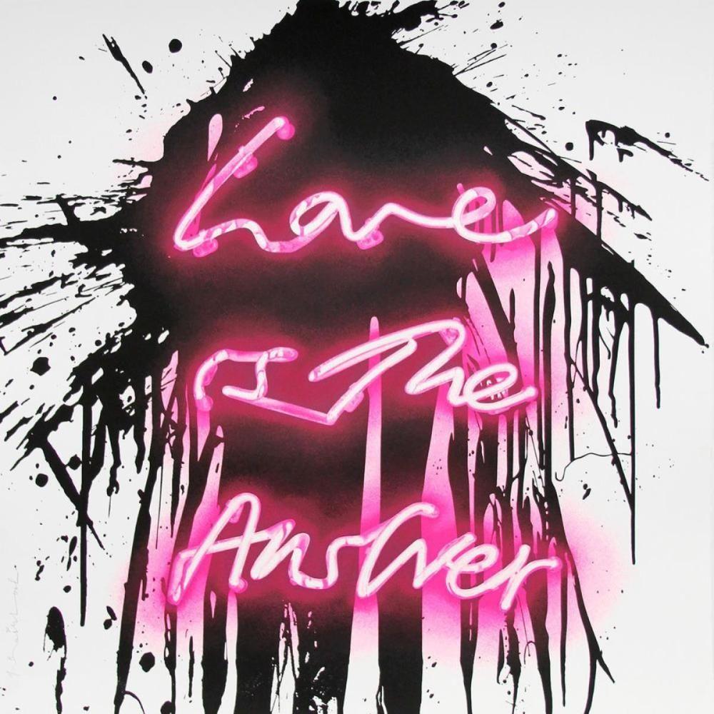 Screenprint Mr Brainwash - Love on