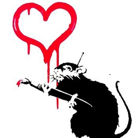 Screenprint Banksy - Love Rat