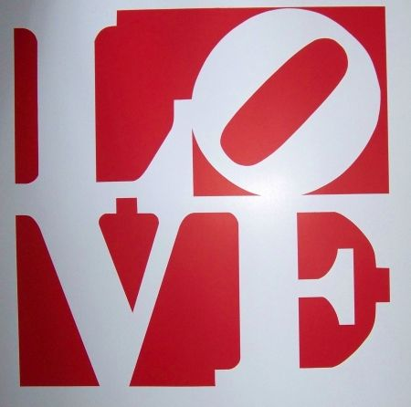 Screenprint Indiana - Love rouge