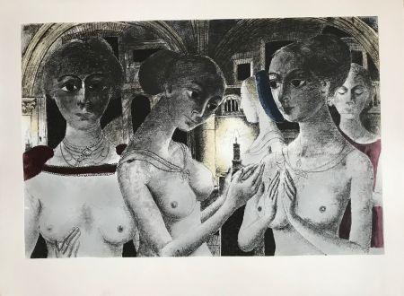 Screenprint Delvaux - Ls Gothiques