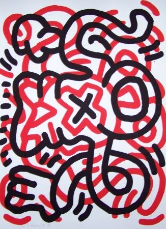 Lithograph Haring - Ludo