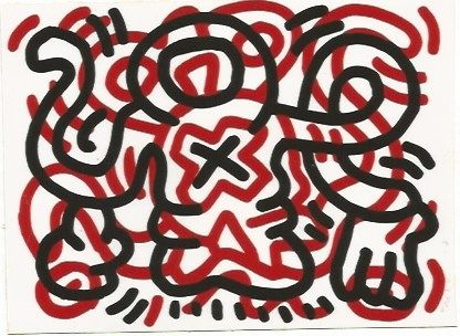 Lithograph Haring - Ludo - 3