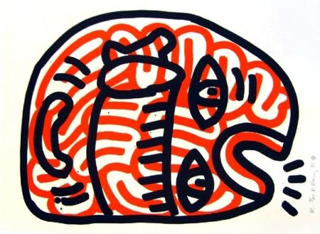 Lithograph Haring - Ludo 2