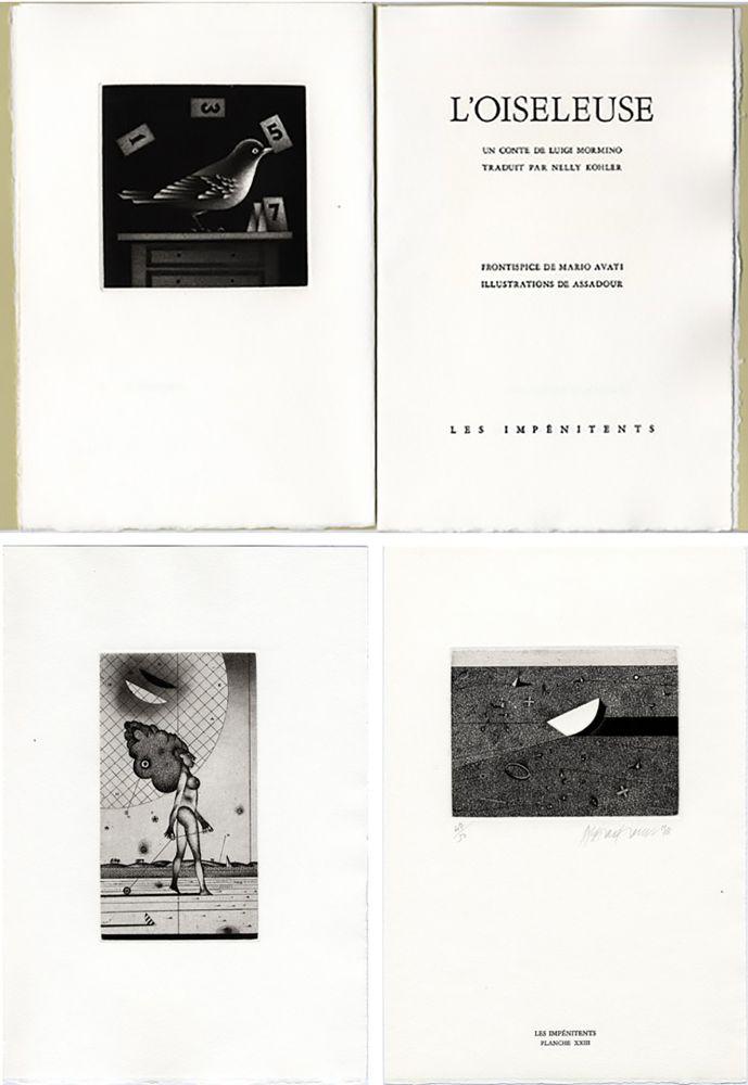 Illustrated Book Avati - Luigi Mormino : L'OISELEUSE (L'UCCELLATRICE). Gravures de Avati et d'Assadour.