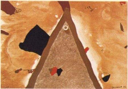 Lithograph Guinovart - L'ull 1982