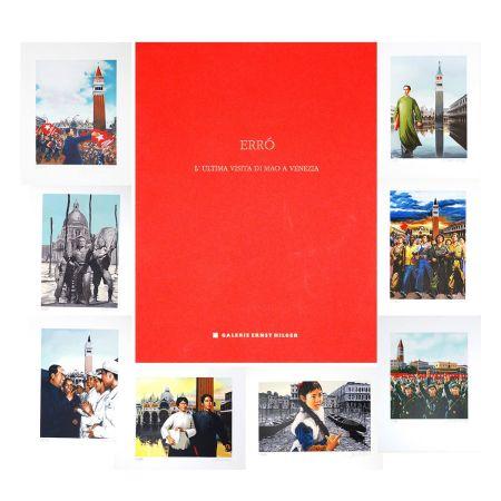 Lithograph Erro - L'ultima visita di  Mao a Venezia - complete portfolio
