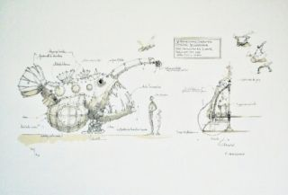 Lithograph Delarozière - Luminaire Des Grands Fonds