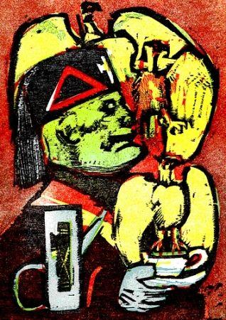 Illustrated Book Maccari - Lunch at Mussolini