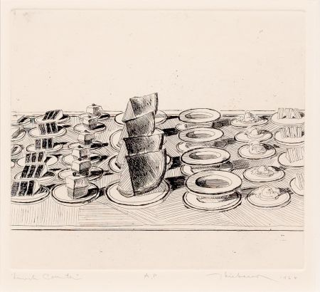 Etching Thiebaud - Lunch Counter, from Delights
