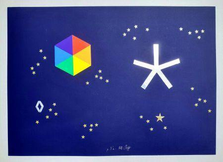 Screenprint Del Pezzo - L'universo di stelle