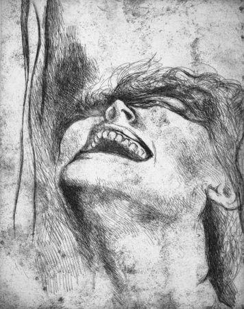 Engraving Guttuso - L'urlo