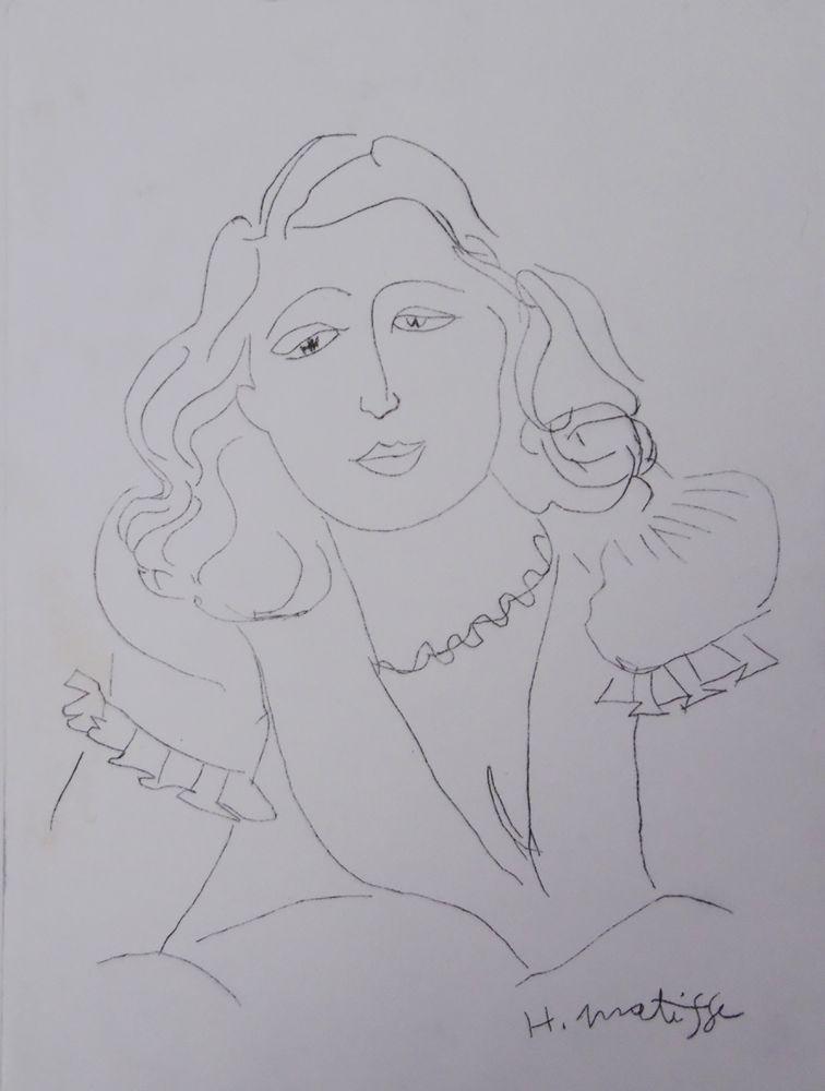 Etching Matisse - Lydia